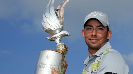 Der Spanier Pablo Larrazabal gewinnt die Abu Dhabi HSBC Championship 2014
