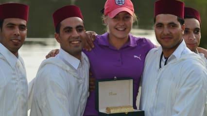 Charley Hull war in der vergangenen Saison Rookie des Jahres und sicherte sich nun den Sieg beim Lalla Meryem Golf Cup in Marokko