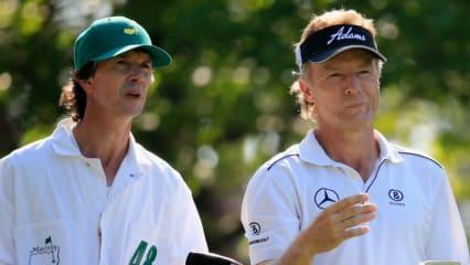 Es ist ihm ins Gesicht geschrieben: Die zweite Runde beim Masters war nicht wirklich nach Bernhard Langers Geschmack