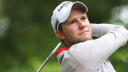 Maximilian Kieffer erwischte bei der BMA PGA Championship einen schwachen Start ins Turnier und spielte am ersten Tag zwei über Par.