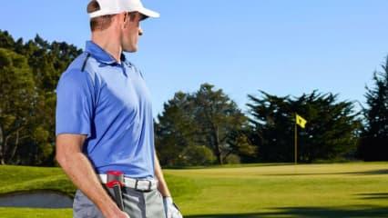 Ein Chip auf dem Schläger und ein Kästchen am Gürtel - mehr braucht es nicht um seine Runde nachvollziehen zu können. (Foto: Game Golf)