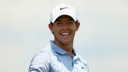 Rory McIlroy hat wieder gut Lachen. Mit seiner neuen alten Liebe ist er wieder glücklich. (Foto: Getty)