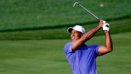 Tiger Woods auf seiner ersten Runde bei der PGA Championship. (Foto: Getty)
