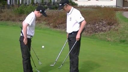 Oma macht sich sorgen: Ihre Enkel können besser mit Golfschlägern umgehen, als mit Messer und Gabel! (Foto: Youtube)