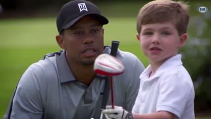 Tommy Morrissey traf Superstar Tiger Woods (Foto: Youtube)
