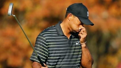 Ein Satz mit X - das war wohl nix. Tiger Woods ist nach seiner ersten Comeback-Runde Letzter. (Foto: Getty)