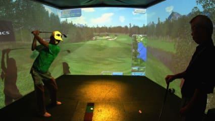 Ein typischer Golfsimulator - zum Spaß und Training gleichermaßen geeignet. (Foto: Getty)