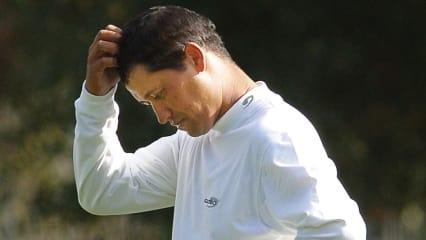 Kurz innehalten: Vor jedem Schlag sollten Golfer sich die perfekte Flugbahn des Balles vorstellen. (Foto: Getty)