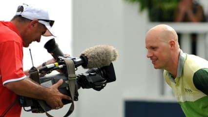 Grund zum Lachen hat man auf dem Golfplatz alle Tage wieder - gut wenn dann noch die Kamera mitläuft. (Foto: Getty)