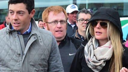 Rory McIlroy und seine Freundin Erica Stoll erstmals öffentlich zusammen bei der Irish Open. (Foto: Getty)
