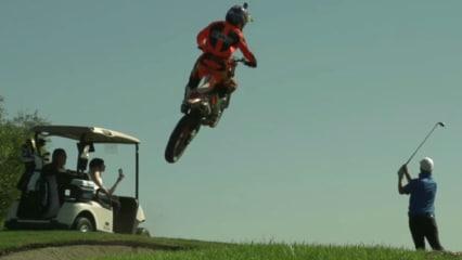 Noch nie was von Etikette gehört, diese Motocrosser von heute! (Foto: Youtube)