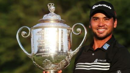 Jason Day darf jubeln: Er gewinnt die PGA Championship 2015. (Foto: Getty)