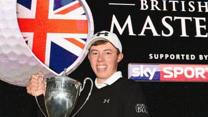 Matthew Fitzpatrick hat gut lachen: Er gewinnt das British Masters 2015. (Foto: Getty)