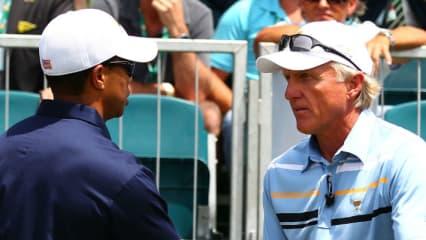 Greg Norman legt in einem Fernsehinterview Tiger Woods sein Karriereende nahe.
