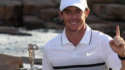 Rory McIlroy wird zum dritten Mal zum Spieler des Jahres auf der European Tour gewählt.