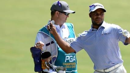 Der beste Mann des Tages: Harold Varner III spielt sich auf Platz Eins der Australian PGA Championship. (Foto: Getty)