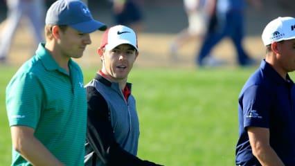 Spieth, McIlroy, Fowler: Das Trio ist wohl der interessanteste Flight der ersten Runde der Abu Dhabi HSBC Golf Championship. (Foto: Getty)