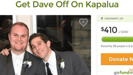 Chris Chaney (li.) will seinem Freund Dave helfen sich seinen Traum zu verwirklichen. (Foto: Screenshot GoFundMe)