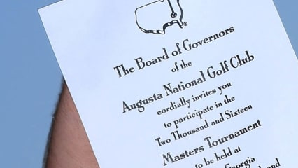 Einladung zum US Masters Tournament 2016 im Augusta National.