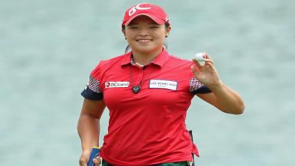 Einen Grund zum Lachen hat Ha Na Jang bei der HSBC Women's Championship auf jedenfall. (Foto: Getty)