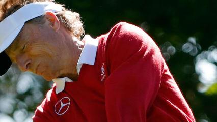Bernhard Langer hat sich am zweiten Tag des Masters erneut voll und Ganz ins Zeug gelegt, was sich auch ausgezahlt hat. (Foto: Getty)