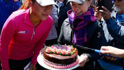 Lydia Ko feiert ihren 19. Geburtstag bei der Swinging Skirts LPGA Classic. (Foto: Getty)