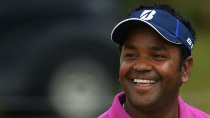 Siddikur Rahman hat gut lachen: Als Führender zieht er ins Finale der Mauritius Open ein. (Foto: Getty)