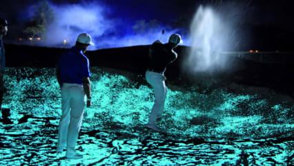 Gespenstige Atmosphäre um Mitternacht auf dem Golfplatz. (Foto: Audemars Piguet)