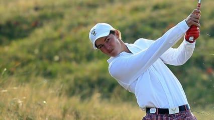 Golf gehört definitiv in das Leben von Maverick McNealy. Auf welche Art und Weise, das muss er noch für sich herausfinden. (Foto: Getty)