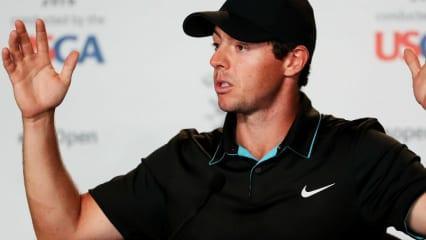 Rory McIlroy bei einer Pressekonferenz zur US Open. (Foto: Getty)