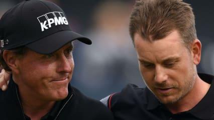 Lieferten sich ein Duell auf Augenhöhe, Phil Mickelson und Henrik Stenson. (Foto: Getty)