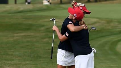 Gemeinsam für die USA: Lexi Thompson (links) und Cristie Kerr zogen bei der International Crown ins Finale ein. (Foto: Getty)