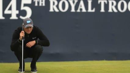 Martin Kaymer bei der 145. Open Championship im Royal Troon. Tag zwei läuft nicht so glatt. (Foto: Getty)