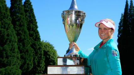 Ein riesiger Erfolg: Brooke Henderson verteidigt ihren Titel bei der Portland Classic. (Foto: Getty)