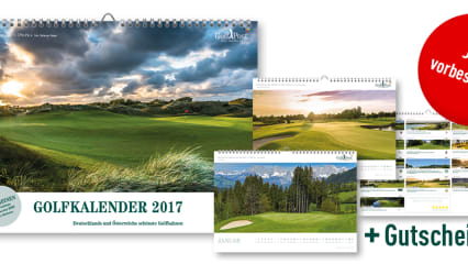 Jetzt vorbestellen und einen der begehrten Golf Post Golfkalender 2017 sichern! (Foto: Golf Post)