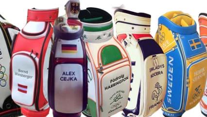 Die unterschiedlichen Golfbags für Olympia 2016 in Rio de Janeiro.