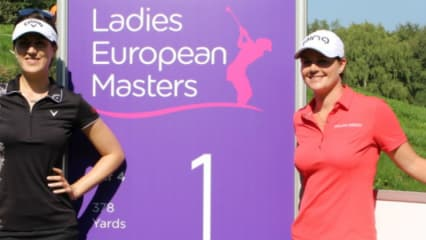 Sandra Gal (links) und Caroline Masson wollen am Finaltag des Ladies European Masters nochmal alles geben. Verfolgen Sie ihre Runden in unserem Livestream. (Foto: Golf Post)