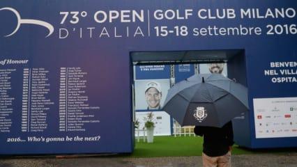 Zwei Regenunterbrechungen sorgten bei der Italian Open für eine große Verspätung. (Foto: Getty)