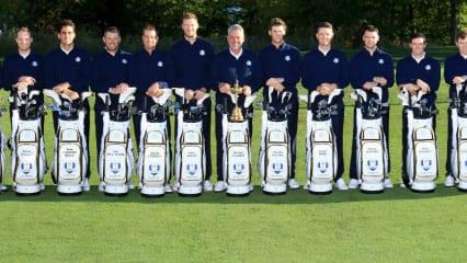 Ein Blick in die Taschen des europäischen Ryder Cup Teams. (Foto: Getty)