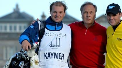 Mit der Familie bei der Alfred Dunhill Links Championship: Martin Kaymer (rechts) und sein Bruder Philip (links) nehmen ihren Vater in die Mitte. (Foto: Getty)