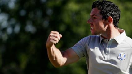 Rory McIlroy dominiert sein Fourball-Match beim Ryder Cup im Alleingang und spielt Golf von einem anderen Stern. (Foto: Getty)