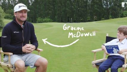 Graeme McDowell trifft auf Billy und seine schonungslosen Fragen. (Foto: Screenshot)