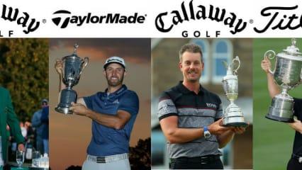 Die Golfschläger und Golfbälle der Majorsieger 2016 im Blick ins Bag. (Foto: Getty)