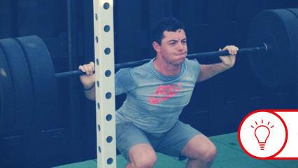 Rory McIlroy schwört genau wie Fabian Bünker auf das Training mit der Langhantel. (Foto: Instgram.com/@rorymcilroy)