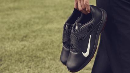 Pünktlich zum Comeback von Tiger Woods präsentiert Nike neue Golfschuhe, die zusammen mit dem ehemaligen Dominator entwickelt wurden. (Foto: Nike)