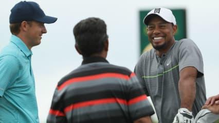 So sehen wir Tiger Woods gerne. Bei seinem Comeback bei der Hero World Challenge liegt er auch nach drei Durchgängen noch gut im Rennen. (Foto: Getty)