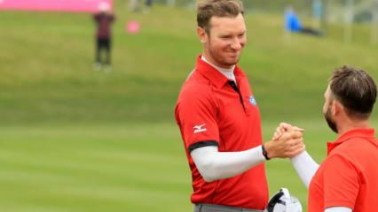 England gewinnt Gruppe A beim Auftakt der GolfSixes. (Foto: Getty)