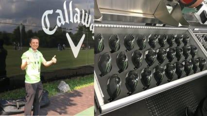 Ein glücklicher Golf Post Leser besuchte im Rahmen der BMW International Open den Callaway Tour Truck. (Foto: Golf Post)