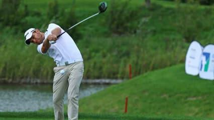 Max Kieffer sprang kurzfristig für den Golfclub Hubbelrath ein. (Foto: Stebl/DGV)