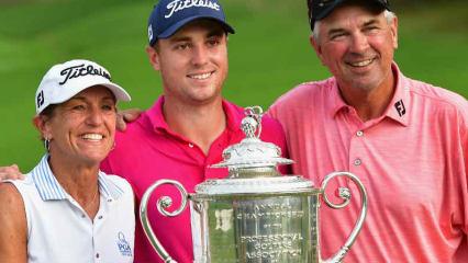 Justin Thomas sichert sich bei der PGA Championship 2017 seinen ersten Majortitel. (Foto: Getty)